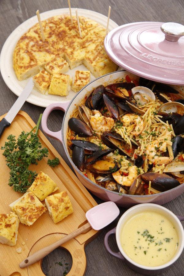葛瑞瑞愛的食堂:瓦倫西亞海鮮燉短麵+西班牙馬鈴薯烘蛋 - FashionGuide 華人時尚專業評鑑
