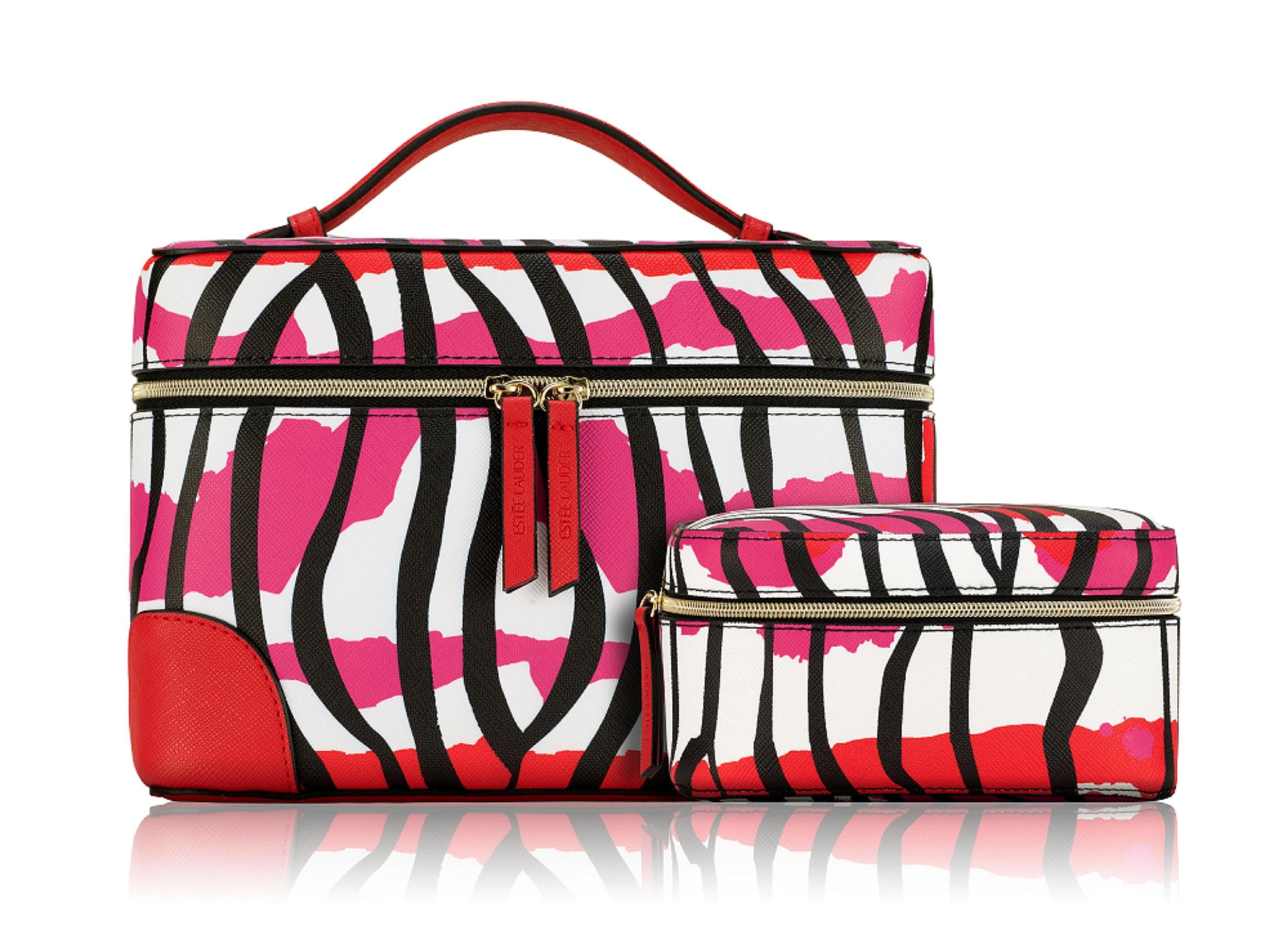 粉紅斑馬巧妝箱組