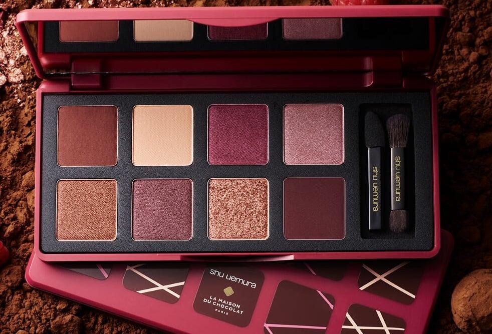 植村秀「覆盆莓誘惑眼彩盤 - 梅森巧克力聖誕彩妝」