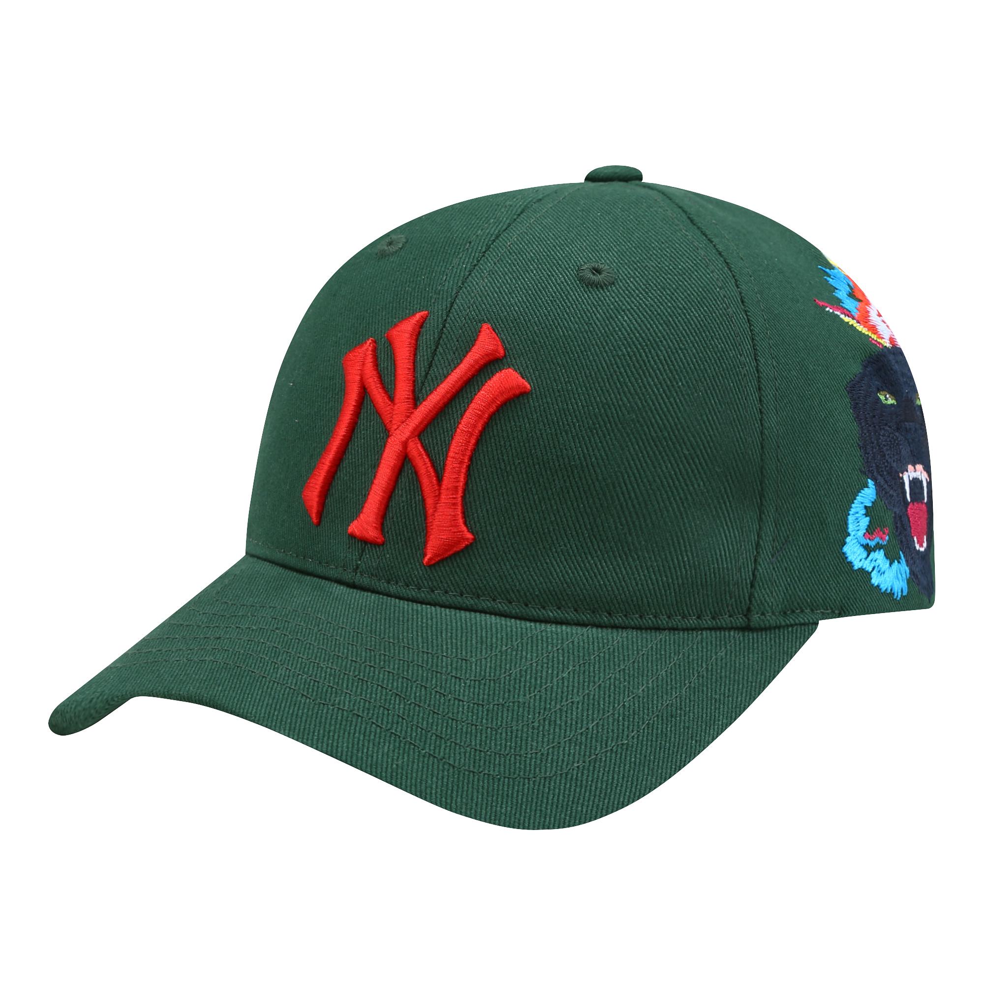 十二色絲線黑豹牡丹刺繡MLB洋基帽 定價$1,290