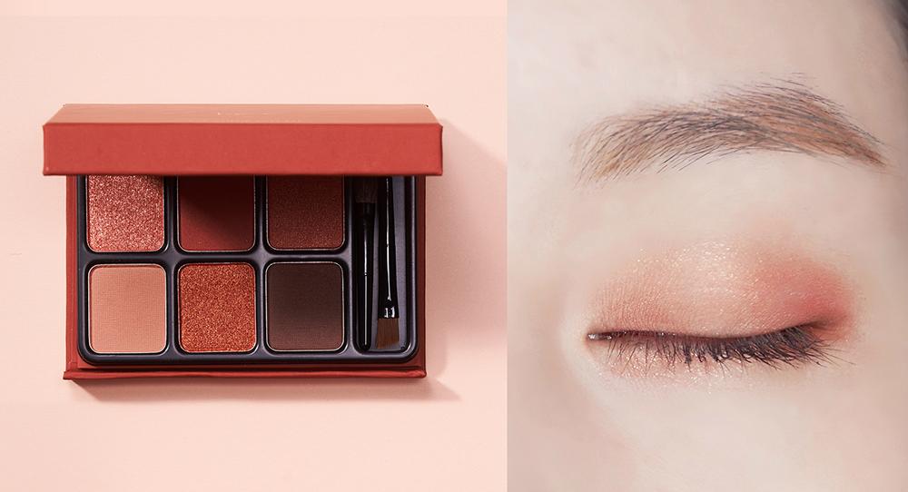 Look 2 溫暖焦糖橘棕妝容 Warm Caramel heme六色眼影盤-焦橙