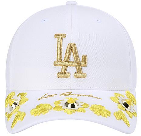 雙色鉚釘立體織花刺繡MLB道奇帽 定價$1,490