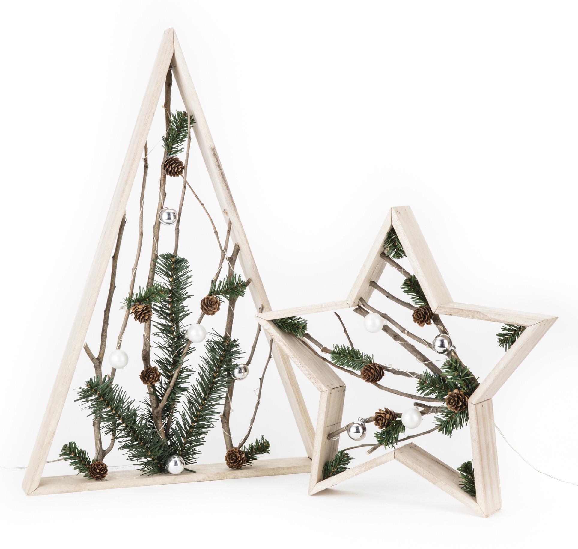 三角型、五星型聖誕LED擺飾燈