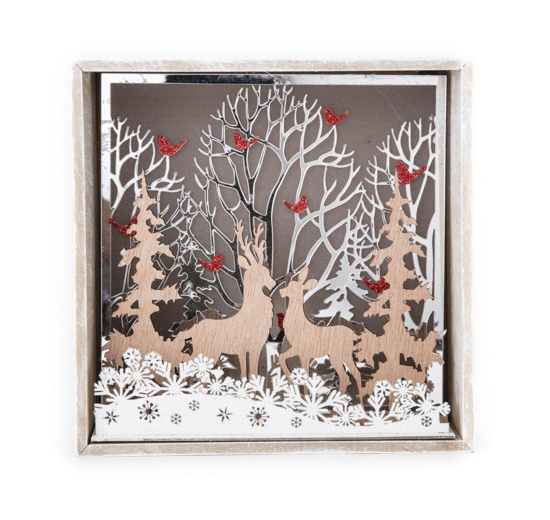 森林小鹿雕刻擺飾