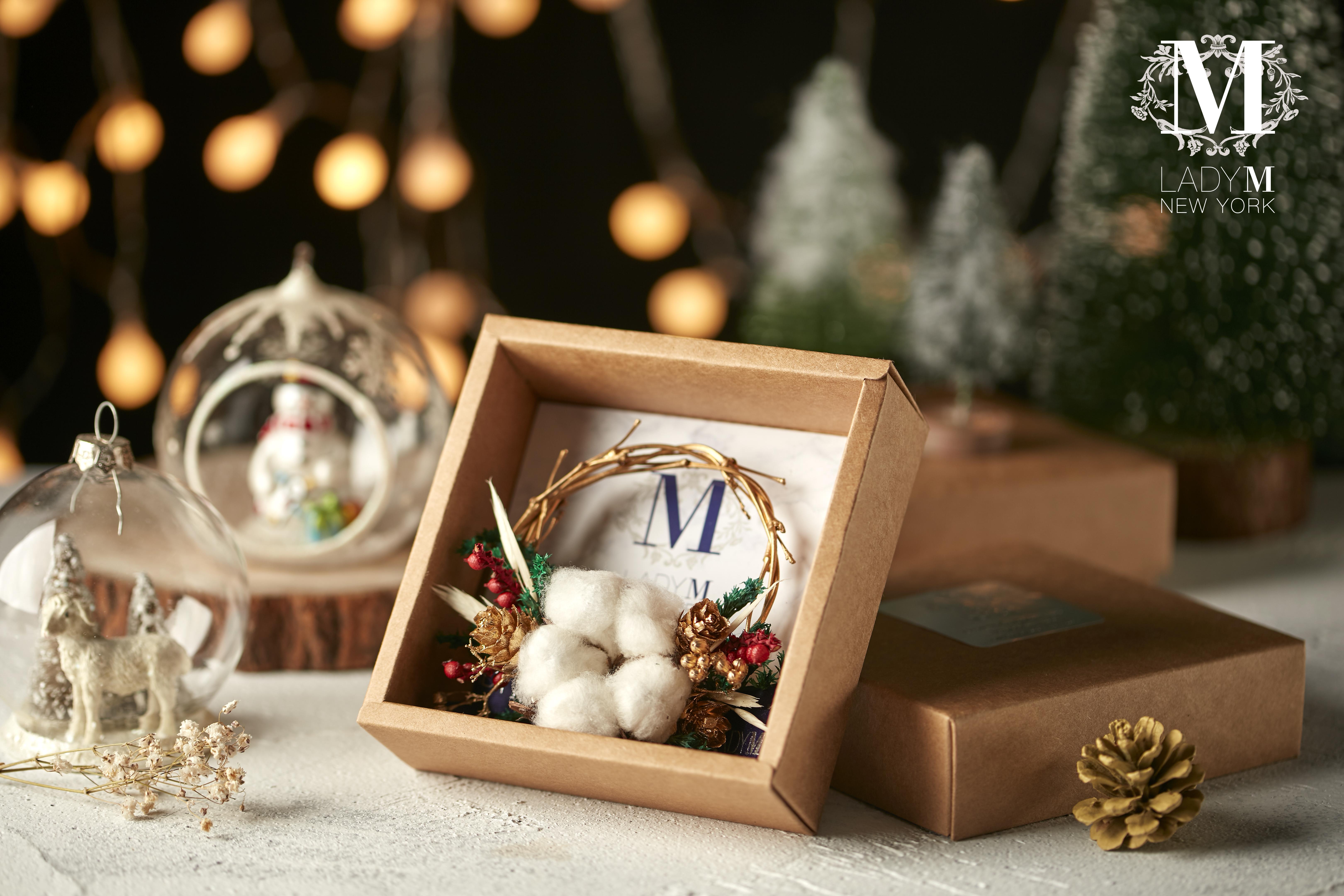 純手工精緻聖誕花圈