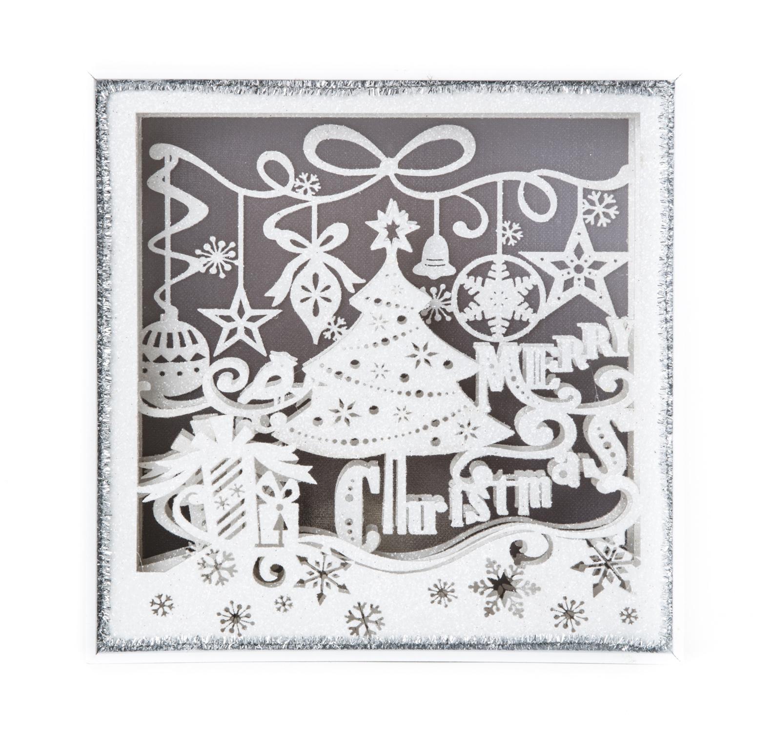 聖誕快樂雕刻擺飾8吋