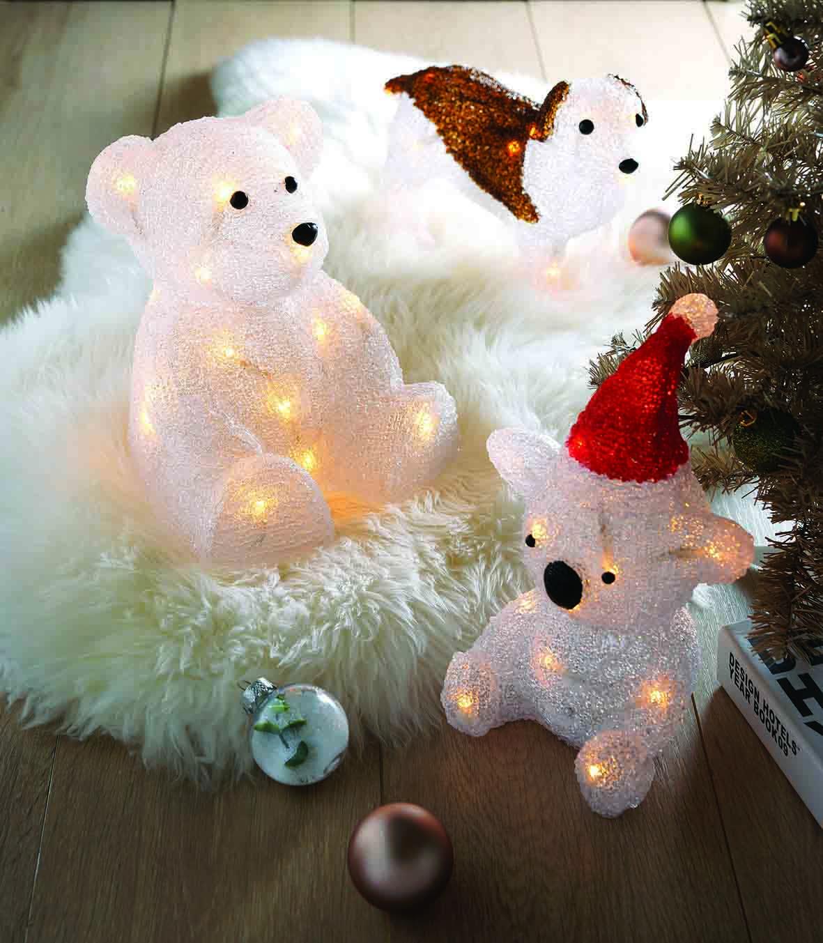 LED造型擺設燈-聖誕帽無尾熊