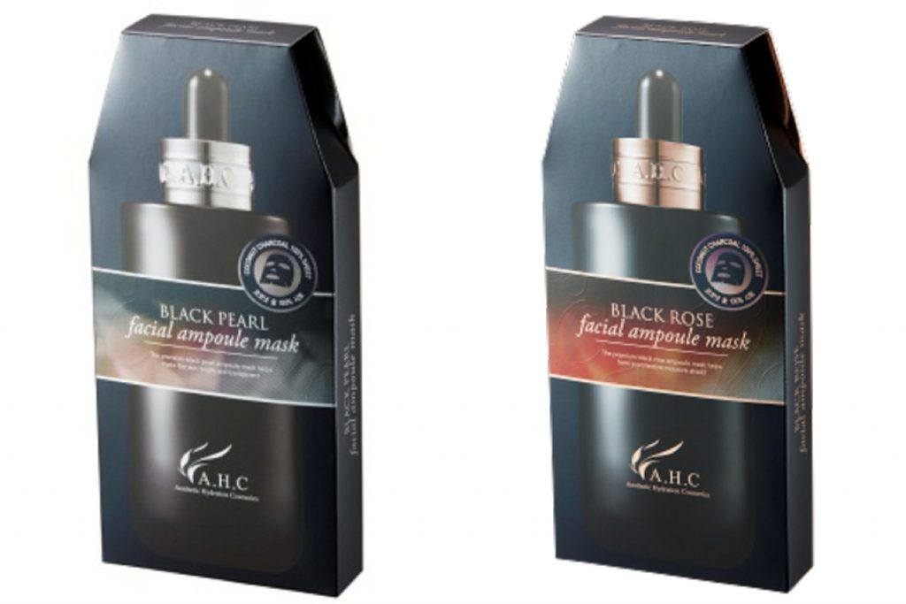 AHC安瓶精華黑面膜系列