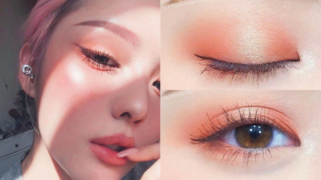 浪漫珊瑚眼妝
