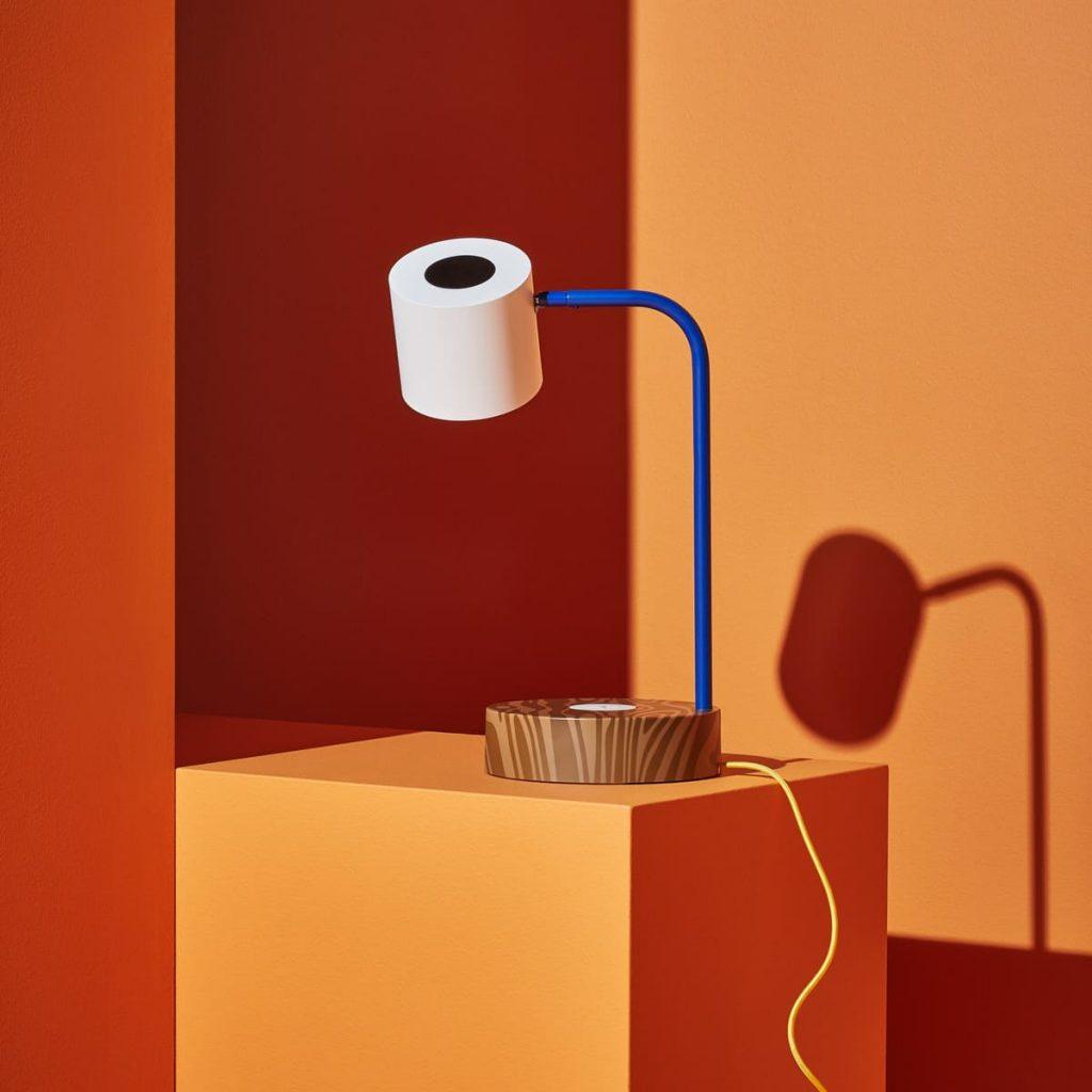 FÖRNYAD LED工作燈附無線充電座,-藍色白色/NT.2,390