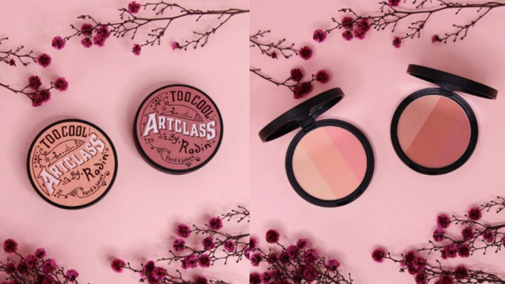 美術課三色腮紅餅 -鳳仙花(左)、 美術課三色腮紅餅 -薔薇(右)