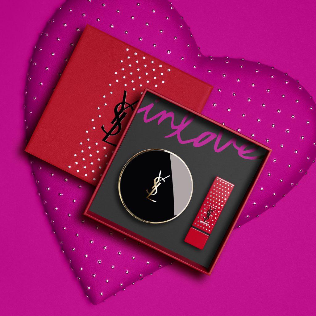 奢華緞面唇膏+恆久完美氣墊粉餅禮盒 NT$3,580