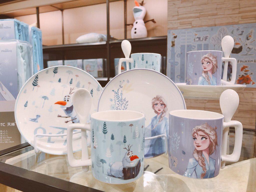 迪士尼系列Frozen 2 杯盤組附匙-Elsa