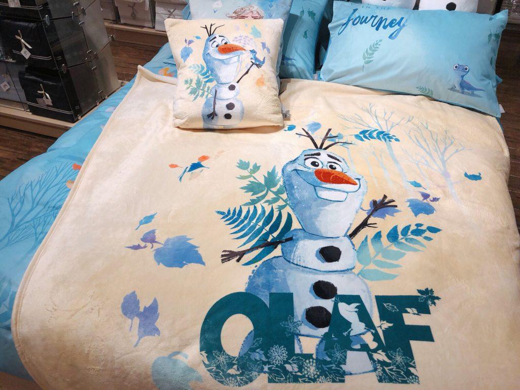 迪士尼系列Frozen 2 法蘭絨收納毯(雪寶)特惠價 NT$1,080