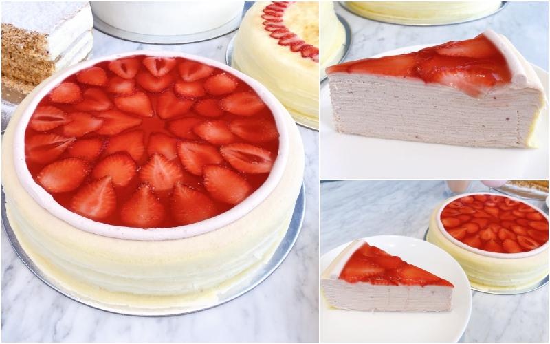 草莓香緹千層蛋糕 單片 / NT$280,9吋 / NT$2,800(FG編輯Ashley Tsai拍攝)