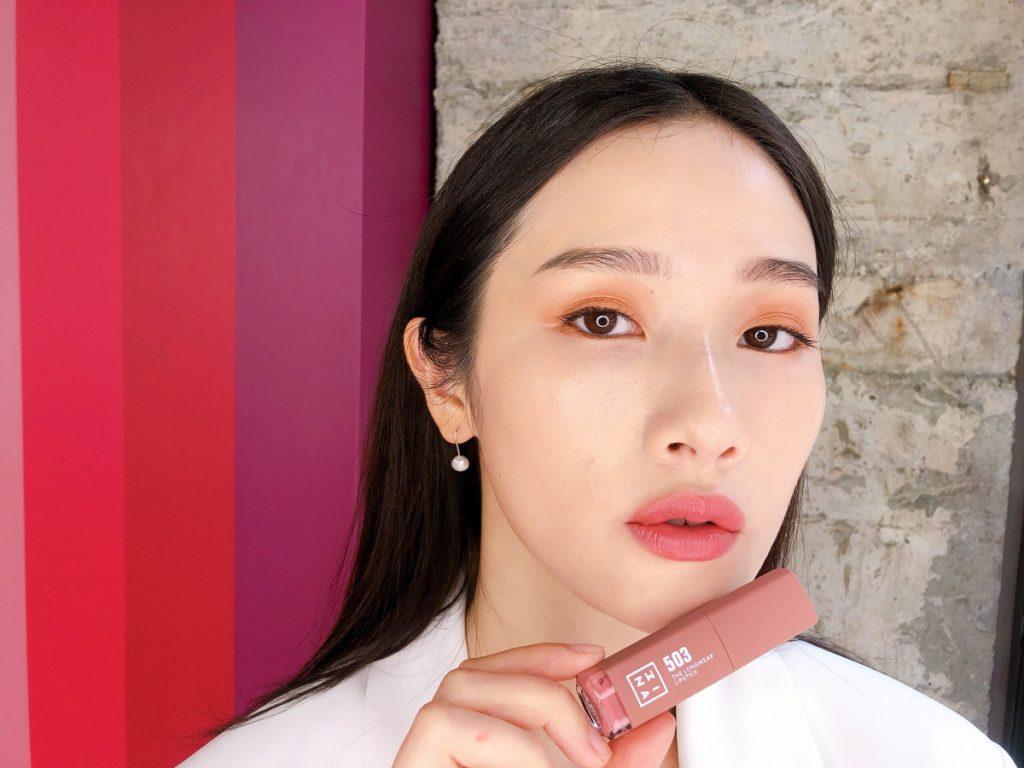 「#503草莓慕斯拿鐵」3ina微刺青印色唇釉 7ml / NT$620 共16色