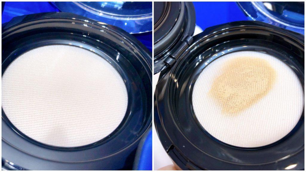 Giorgio Armani設計師全能氣墊水粉霜 SPF50・PA+++ 14g / NT$2,750 亞曼尼極光藍氣墊