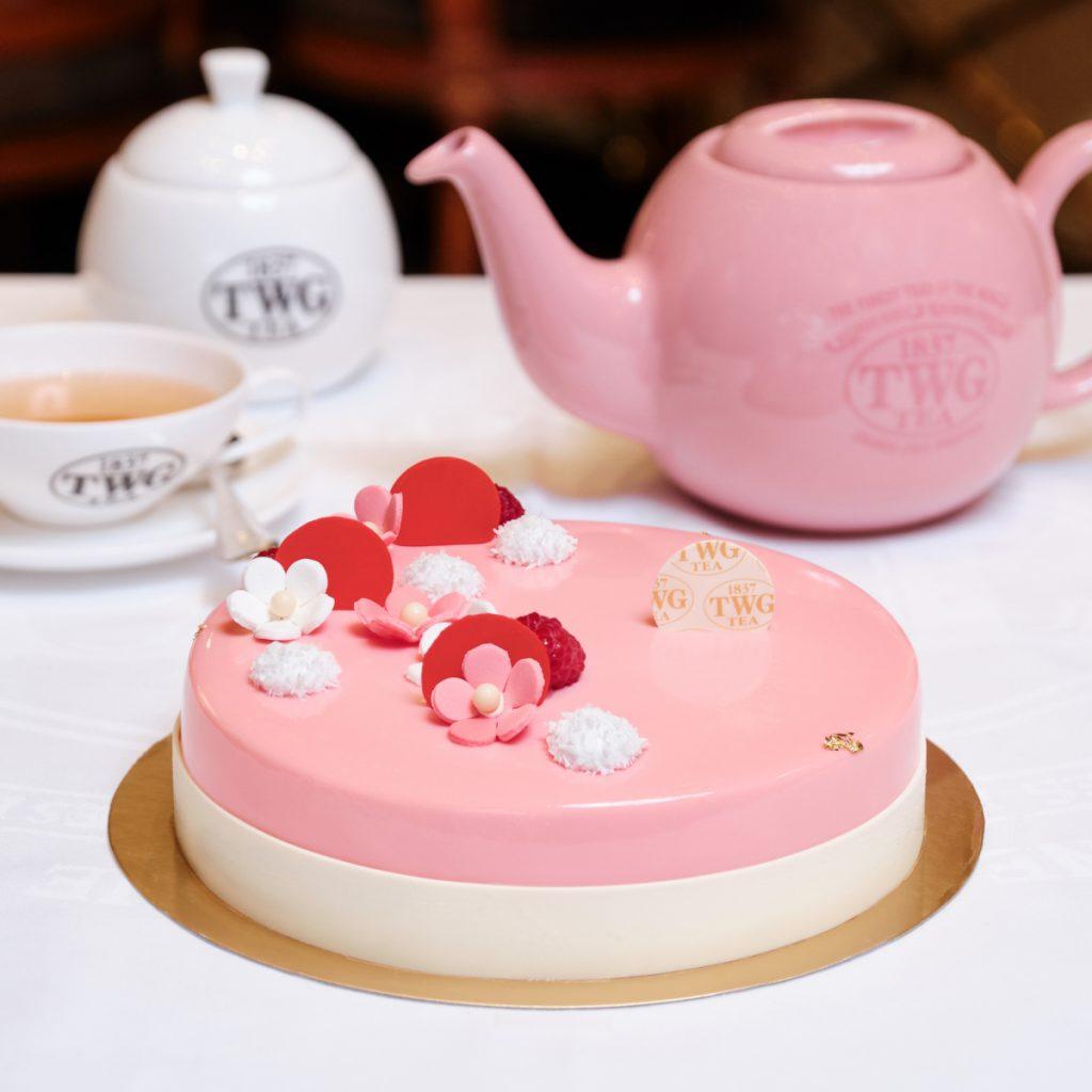TWG Tea「玫瑰芬香茶慕斯蛋糕」7吋/NT$1,350
