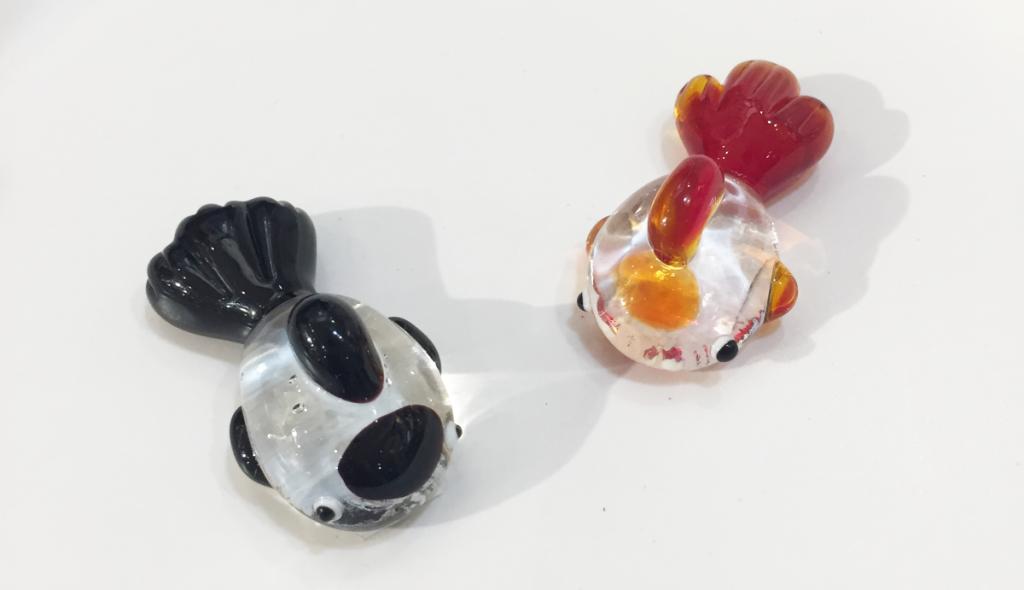 金魚筷架(黑/紅)NT$50