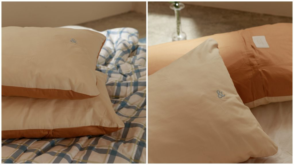 &ROOM LOGO刺繡雙色枕頭套2入/NT$280