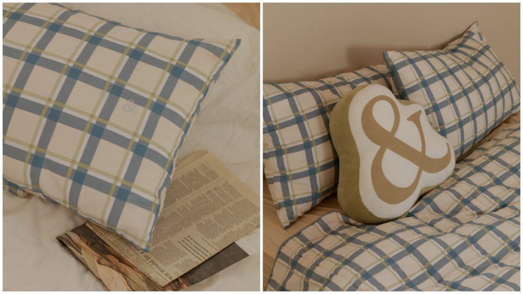 枕頭套 &ROOM 格紋枕頭套(2 入) NT.520