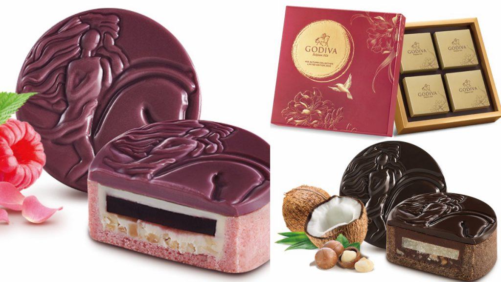 中秋節巧克力月餅禮盒4顆裝/NT$1200 中秋節巧克力禮盒8顆裝/NT$1400