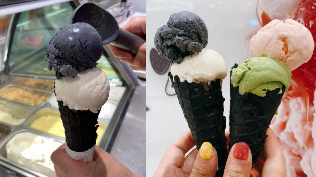 極黑甜筒 雙球冰淇淋