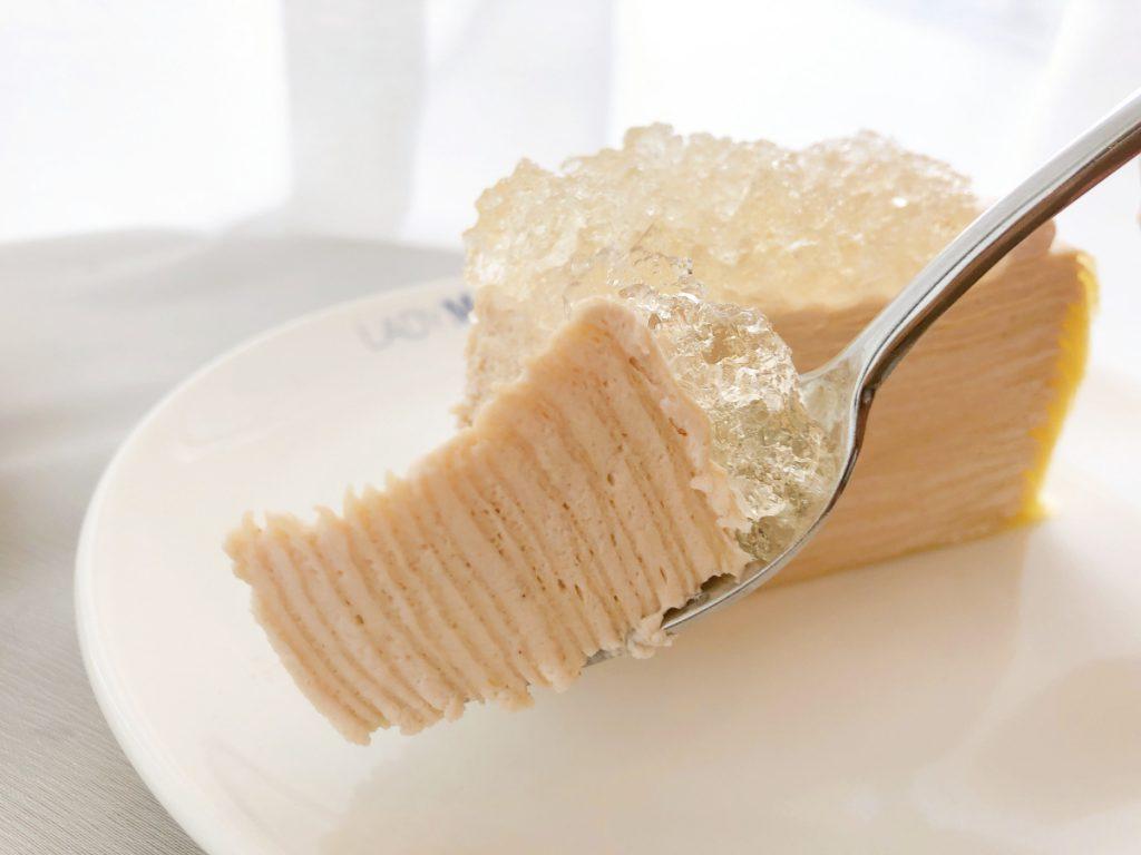 香檳千層蛋糕 切片/NT$380、九吋/NT$3,800(未成年請勿飲酒)