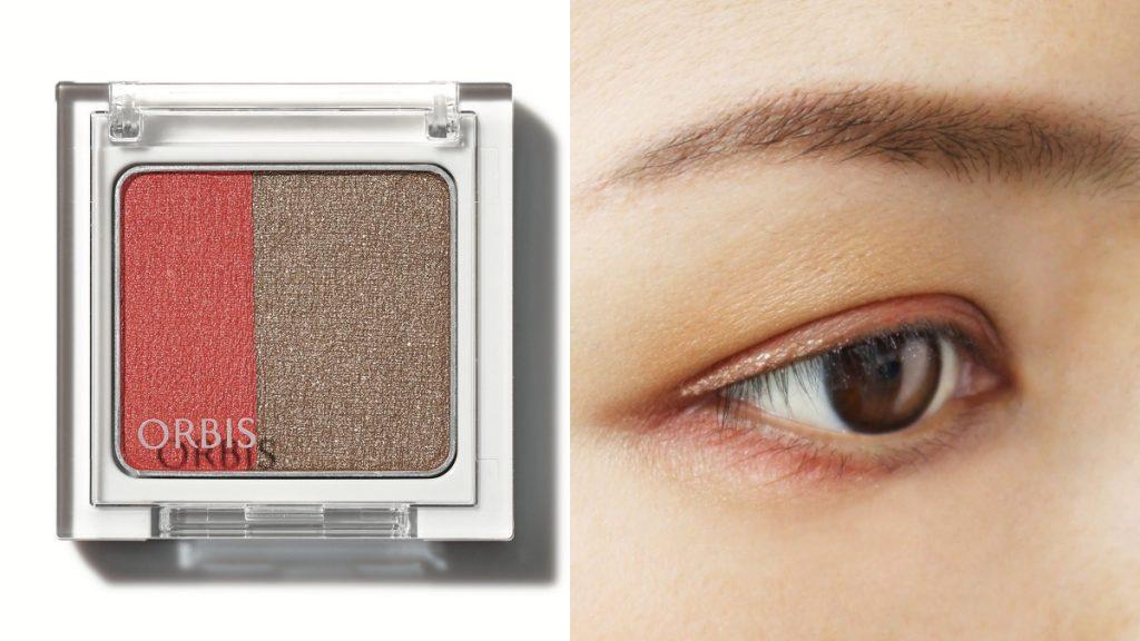 ORBIS 好睛采雙色眼影 限定(暖金鏽紅)NT$350(圖/品牌提供)