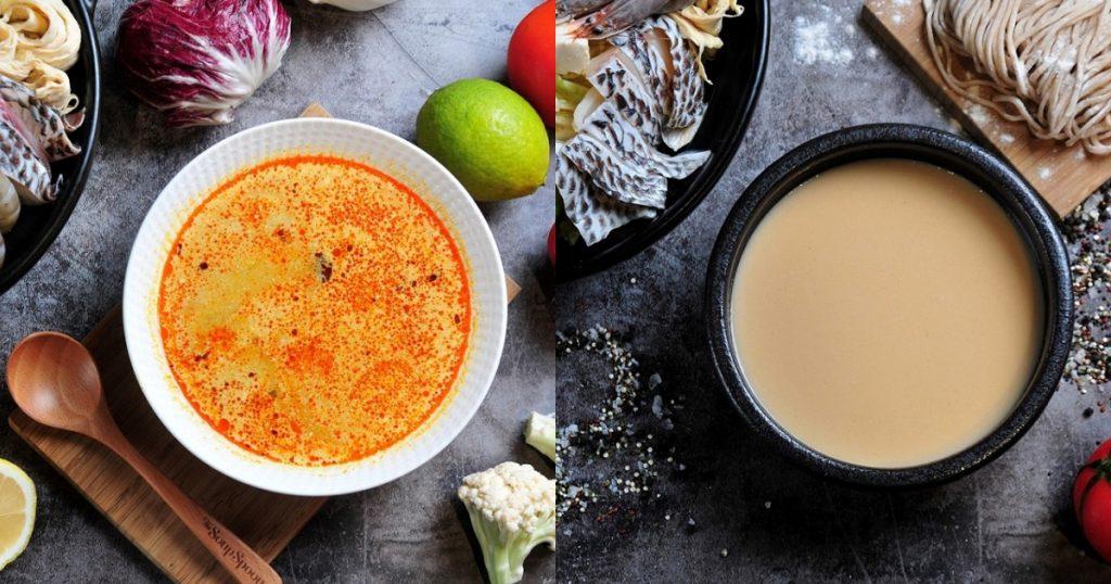 新加坡叻沙火鍋湯底/三文魚味噌湯底