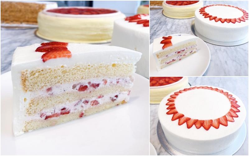 lady m草莓海綿蛋糕 單片 / NT$270,9吋 / NT$2,700