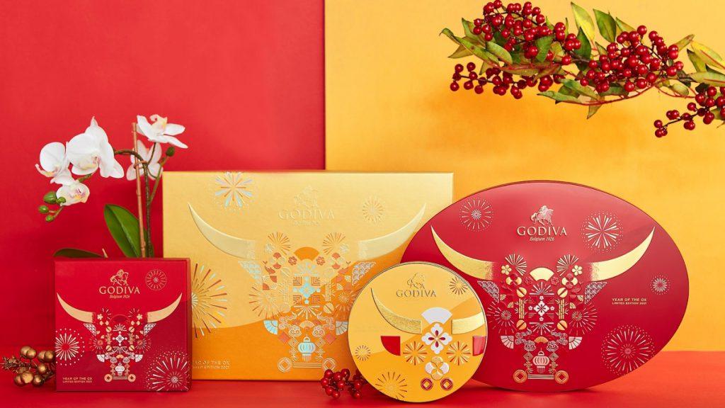新年片裝巧克力禮盒 15片裝/NT$920 新年巧克力禮盒 9顆裝/NT$1,380