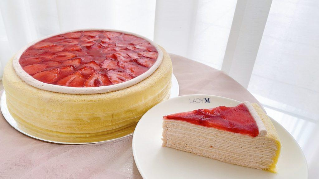 草莓香緹千層蛋糕