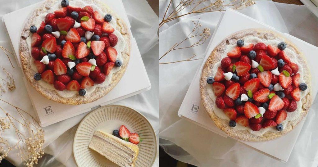 草莓千層蛋糕9吋 NT$1,280