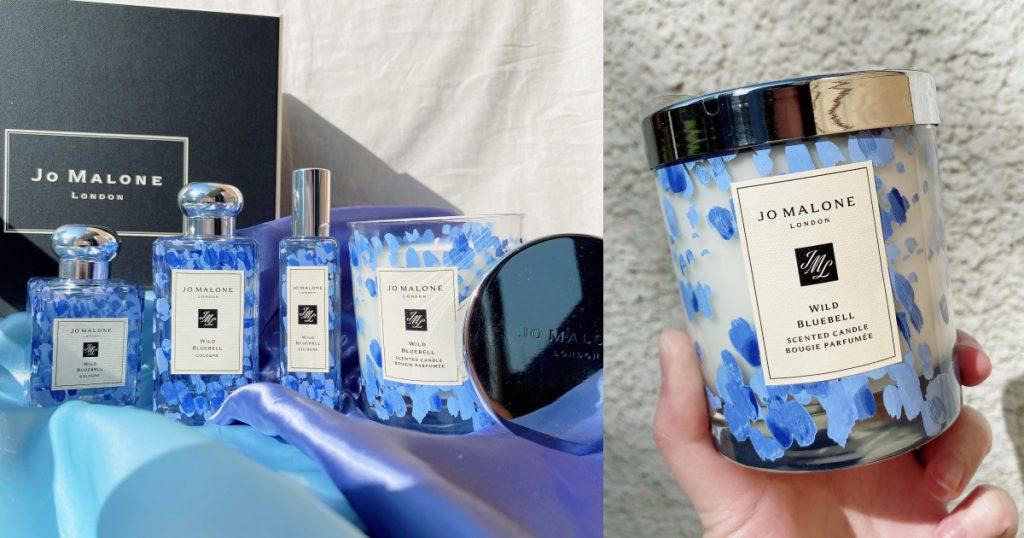 藍風鈴限量彩繪系列香水 30ml/NT$2,700、50ml/NT$3,650、100ml/NT$5,400 藍風鈴限量彩繪香氛工藝蠟燭 200g/NT$2,680