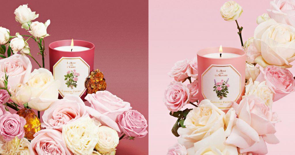 Carrière Frères 玫瑰愛薄荷、玫瑰愛琥珀 香氛蠟燭 185g/$62(美元)