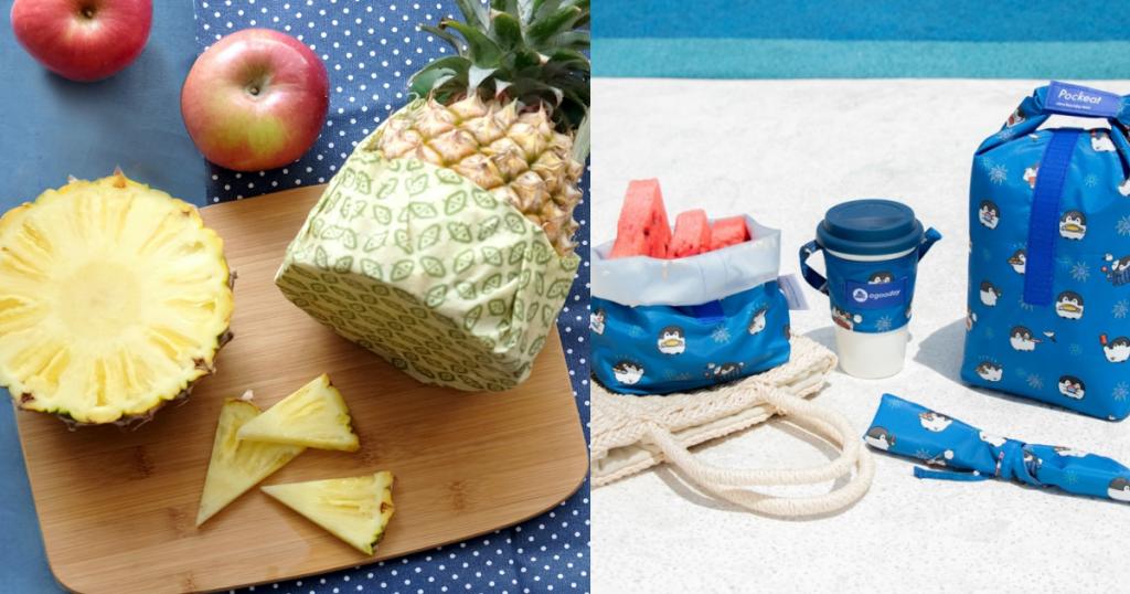 蜂蠟布保鮮罩、食物袋捲動式、餐具收納套