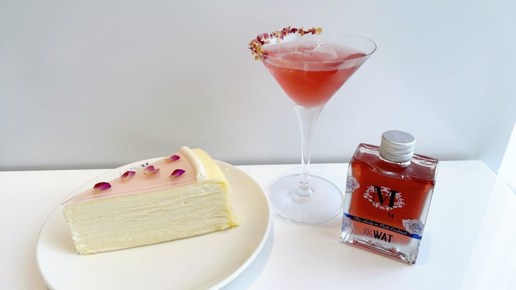 Lady M 玫瑰千層+粉黛荔香雞尾酒