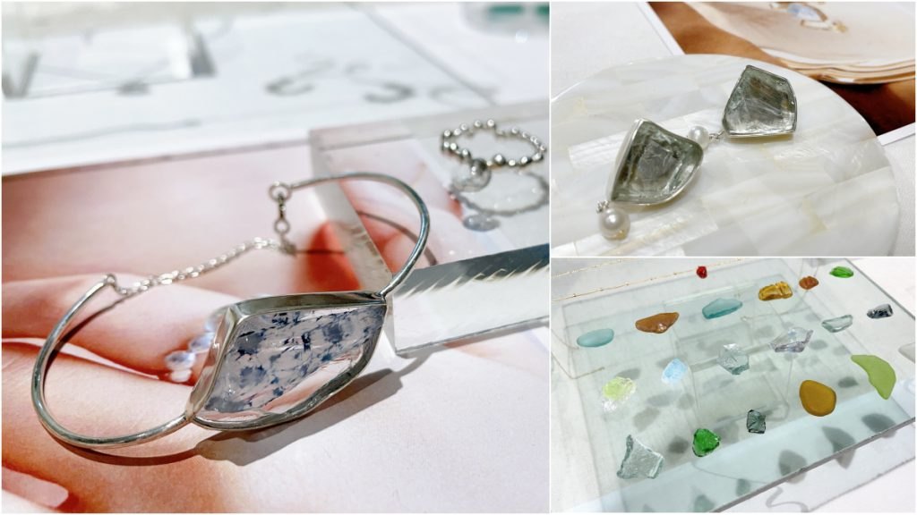 《Vein Studio》以海玻璃製成飾品