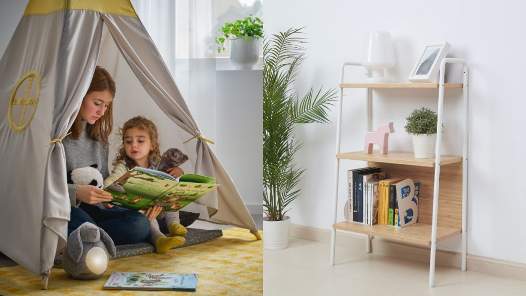 HÖVLIG兒童帳篷 NT$990、SVENARUM層架組 NT$2,290