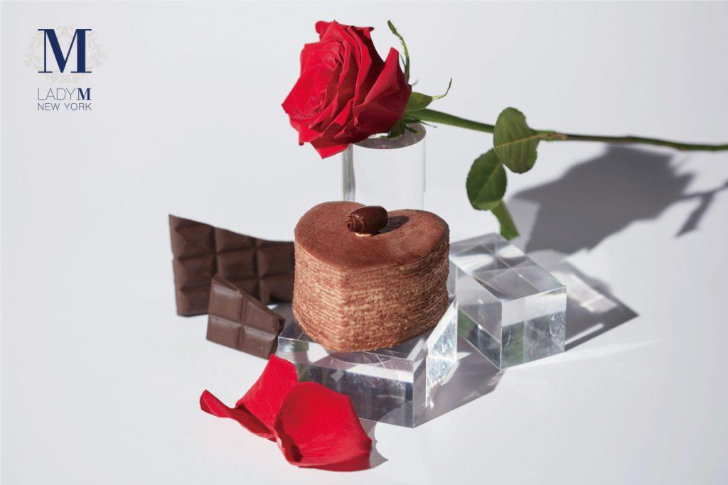 心型巧克力千層