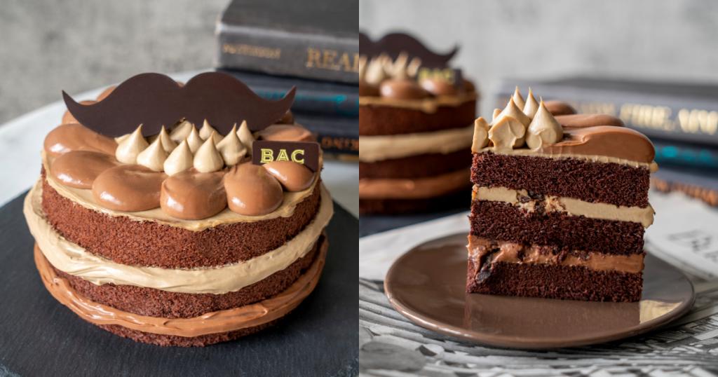 鬍子先生焙茶巧克力蛋糕
