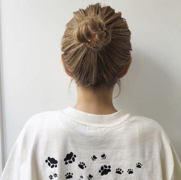 中長髮編髮造型