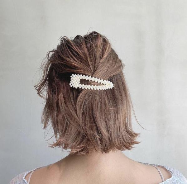 短髮編髮造型